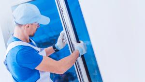 Grand Rapids window repair contractor replacing a window